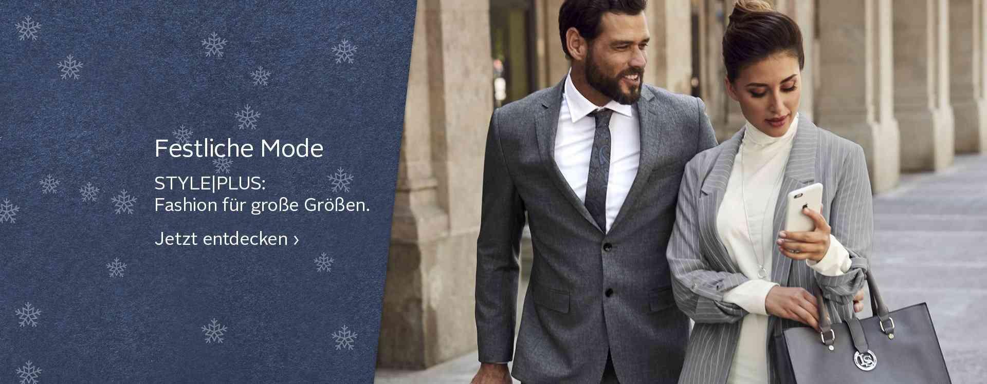 Feierliche Anlässe  sich immer, hier auch die passende Kleidung: festliche Mode für Damen und Herren in großen Größen. Jetzt stöbern!