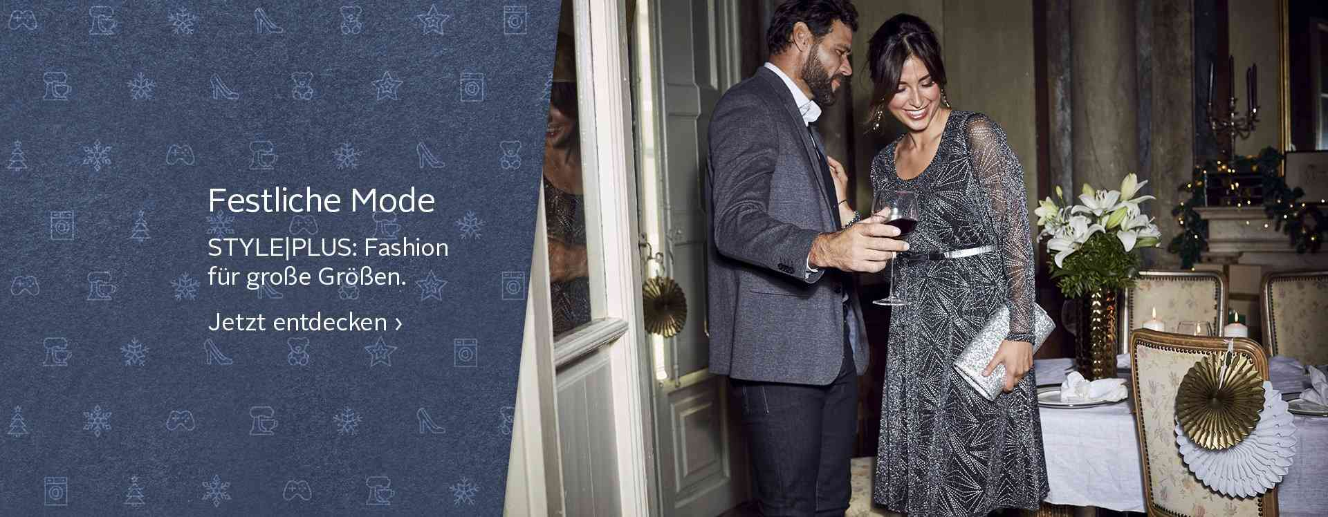 Feierliche Anlässe finden sich immer, hier auch die passende Kleidung: festliche Mode für Damen und Herren in großen Größen. Jetzt stöbern!