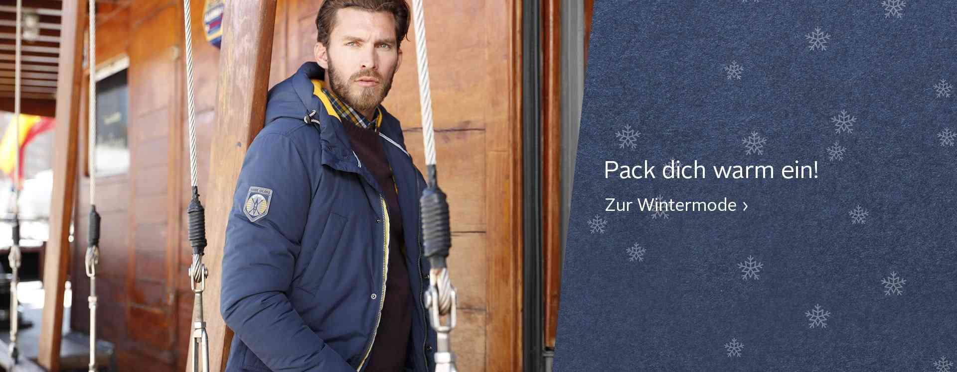 Wir bringen Sie gut gestylt durch den Winter. Zu unserem Shop Wintermode.
