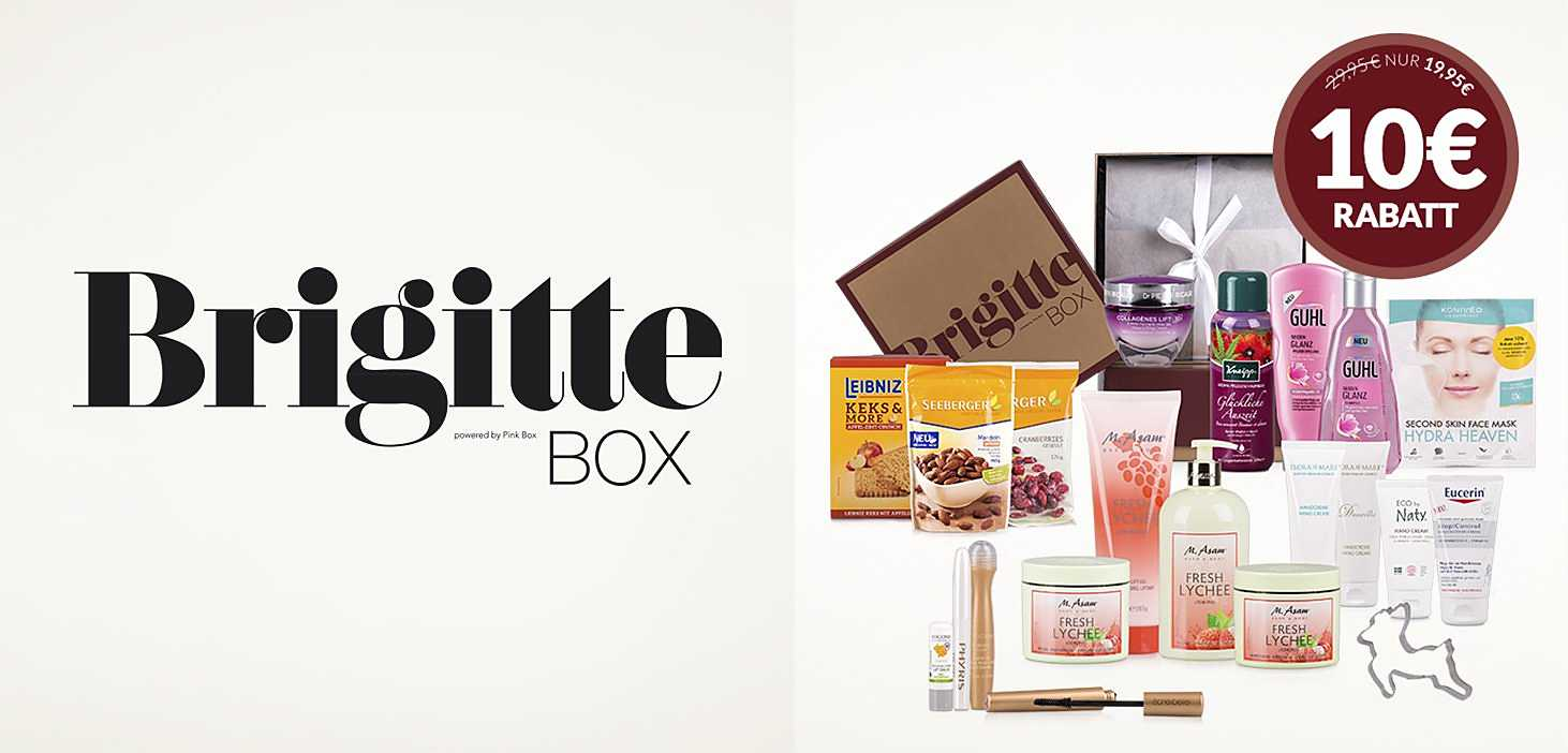 shopping&more Brigitte Box 10€ sparen Beauty Food Lifestyle