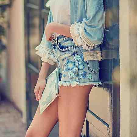Damen: Jeans: Jeansshorts