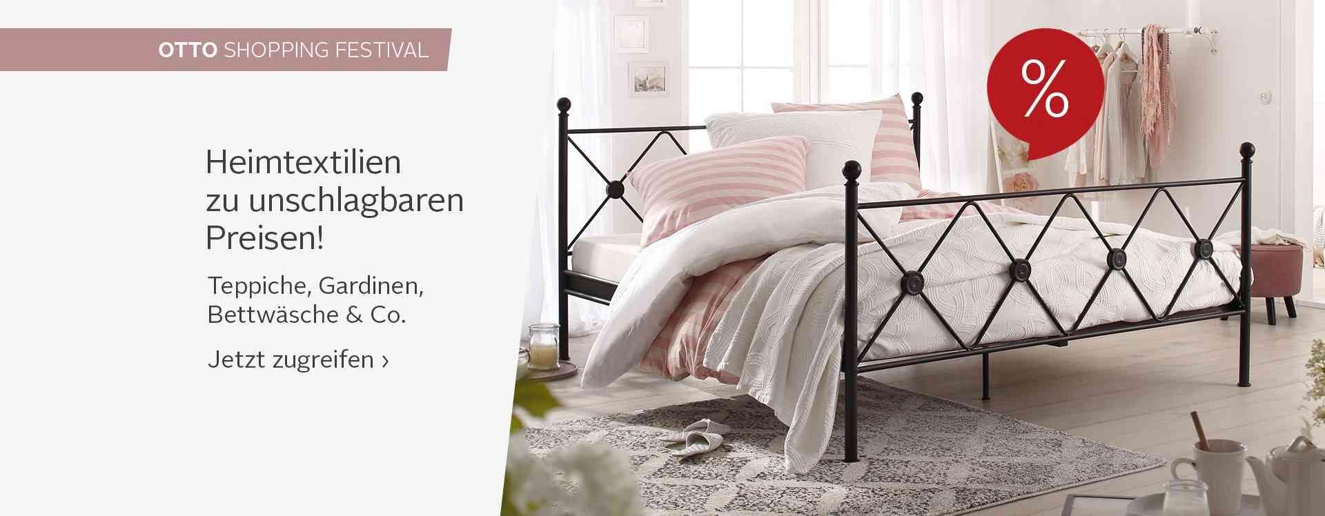 Moderne und hochwertige Heimtextilien für ein gemütliches zu Hause - von Bettwäsche & Bettlaken über Gardinen & Vorhänge bis zu Matratzen, Lattenrosten und Teppichen!