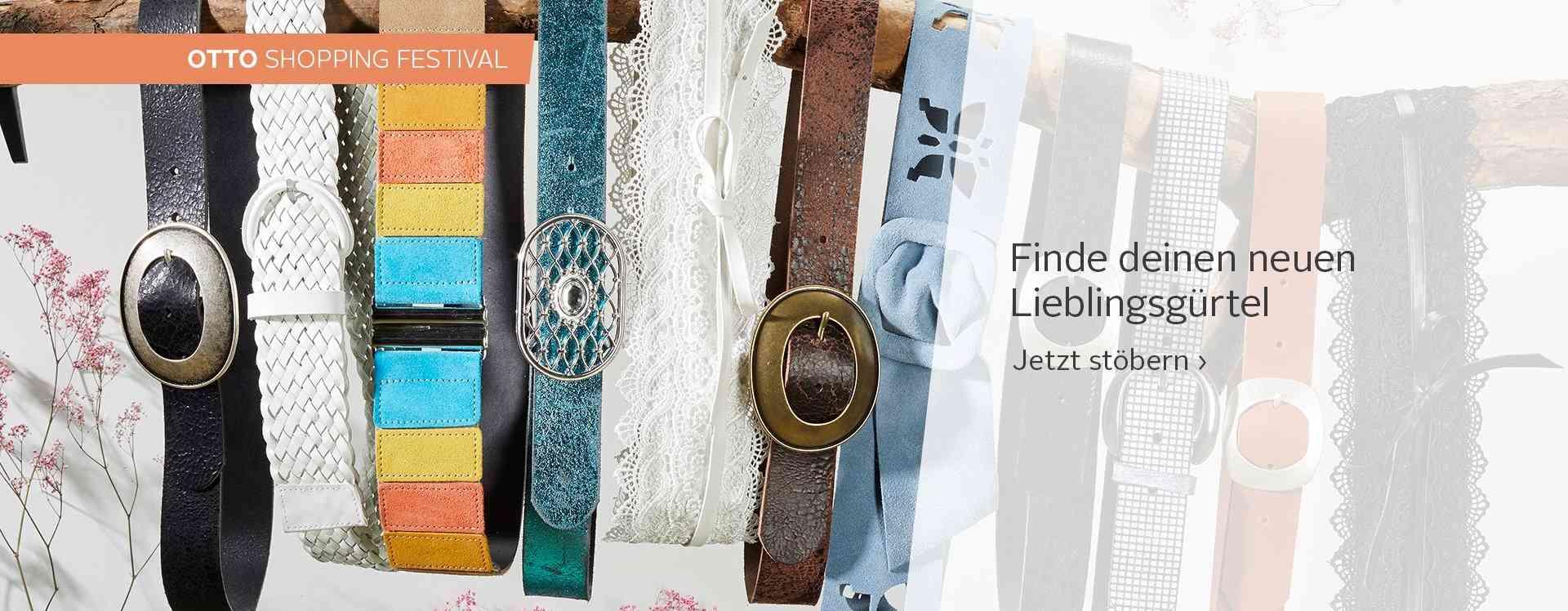 Ob klassisch durch die Gürtelschlaufe gezogen oder um die Taille gelegt: Gürtel sind immer ein stylisches und praktisches Accessoires.