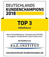 Top 3 Deutschlands Kundenchampions Möbelhäuser