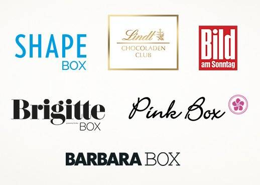 BARBARA BOX BRIGITTE BOX Pink Box Bams Box SHAPE Box Lindt Chocoladen Club