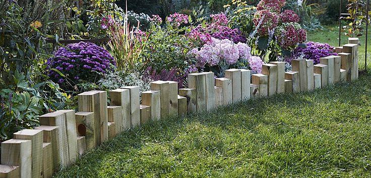 DIY rustikale Beetbegrenzung aus Holz