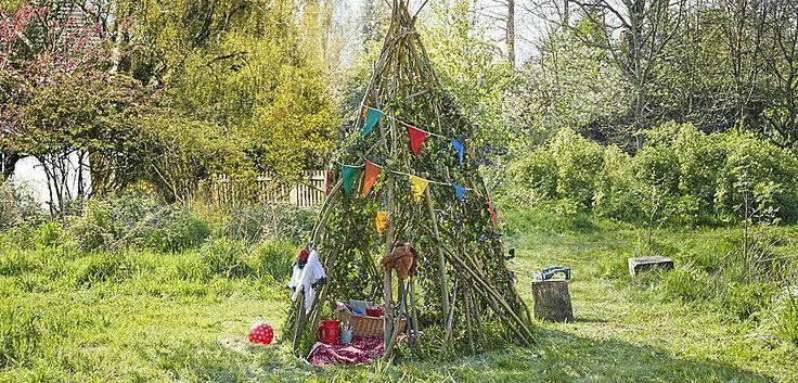 DIY grünes Gartentipi