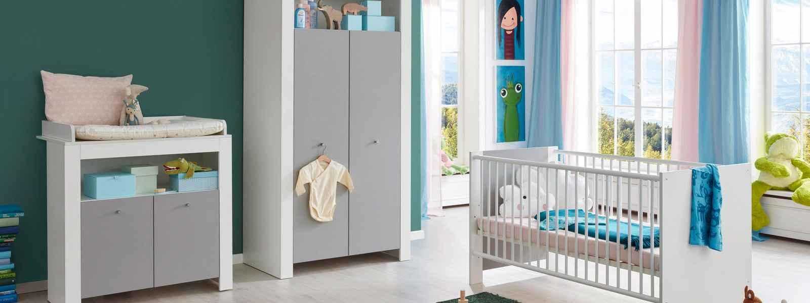 Babyzimmer Lissabon weiß/grau