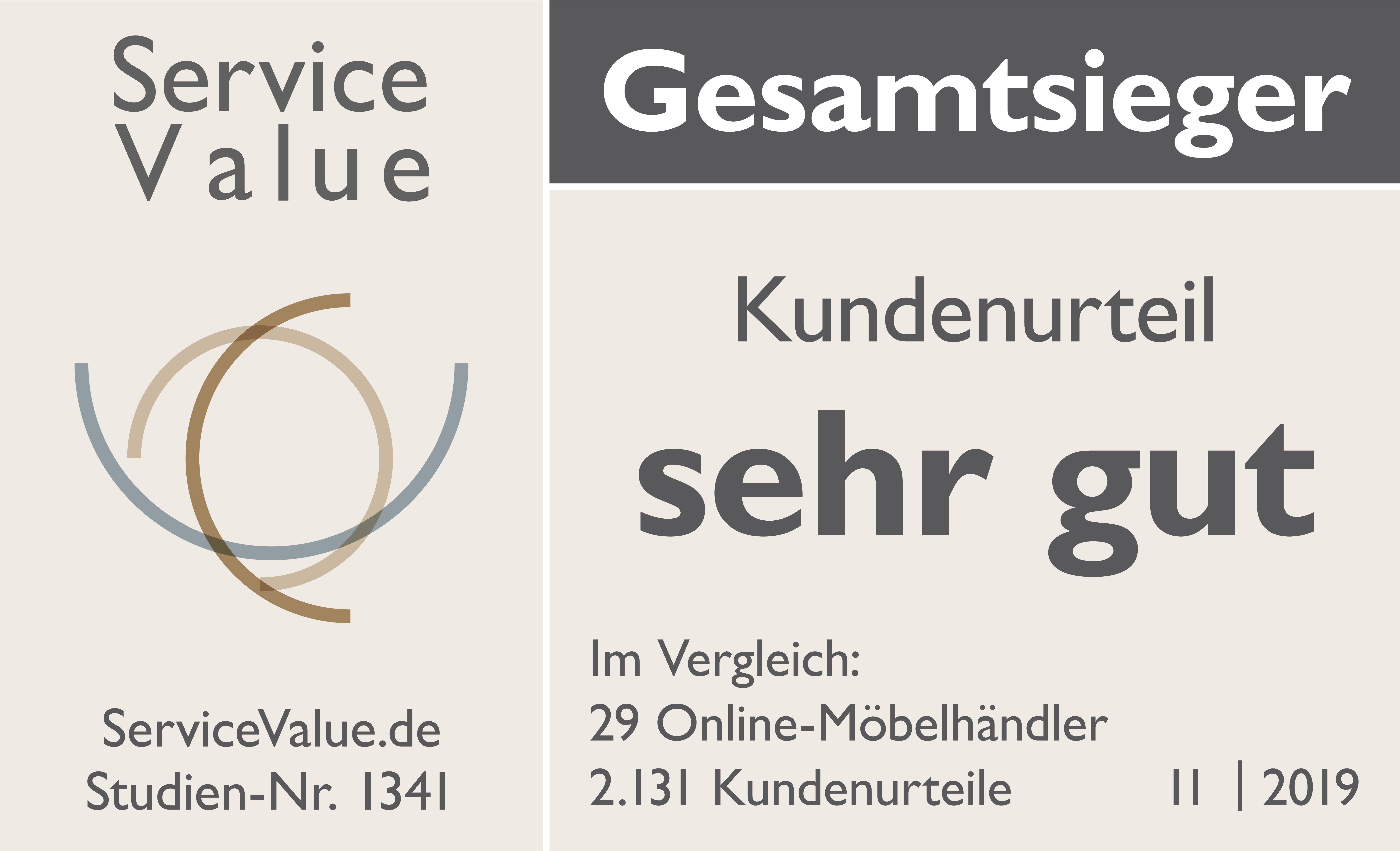 Kundenorientiertester Online-Möbelhändler 2019