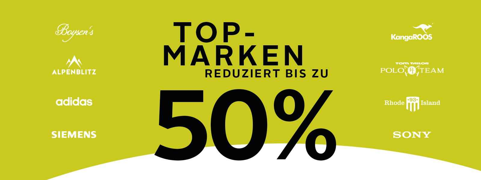 % Top Marken reduziert