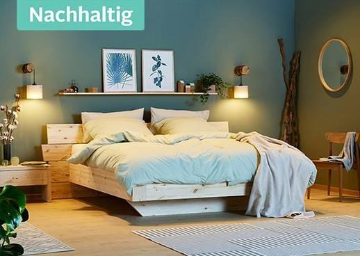 Hier findest du nachhaltige Tipps, um dein Schlafzimmer nachhaltig und sommerlich einzurichten..