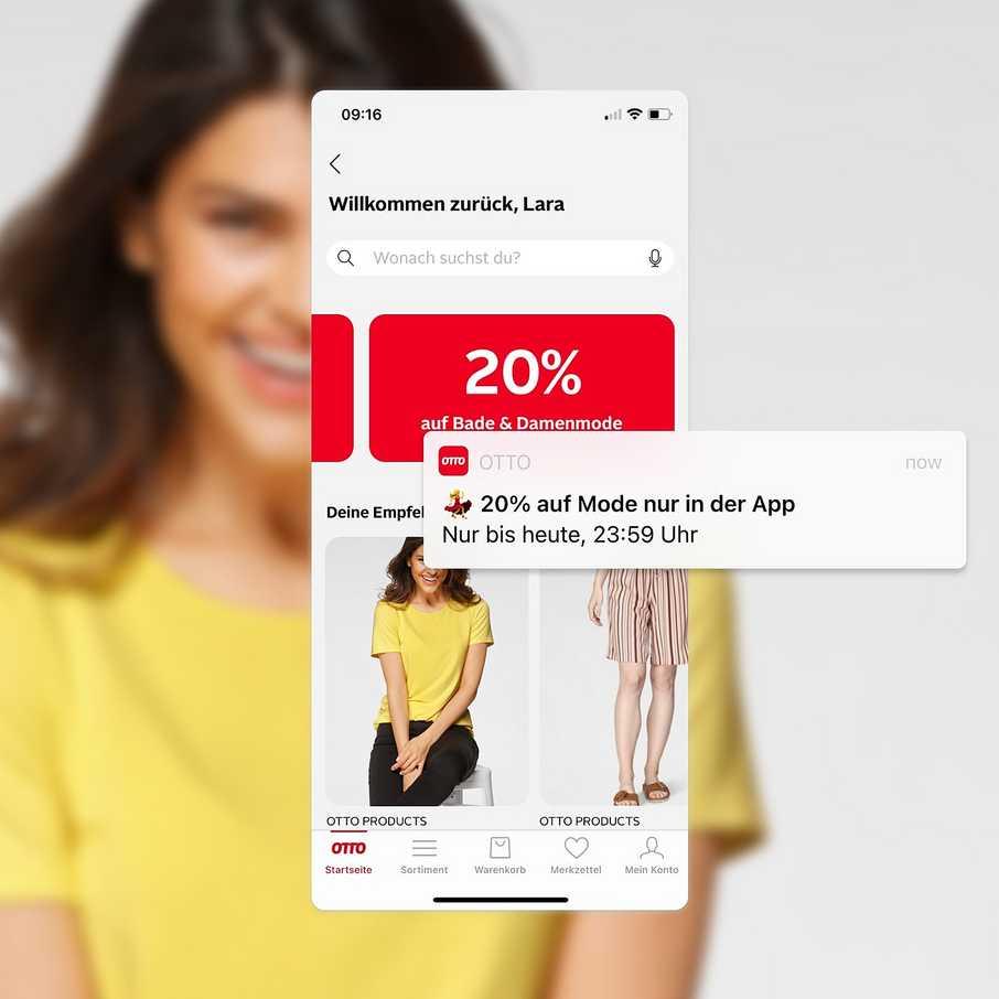 Exklusive Rabatte in der OTTO App: Hier bekommst du immer wieder extra Vorteile