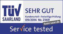 Service Tested TÜV Saarland