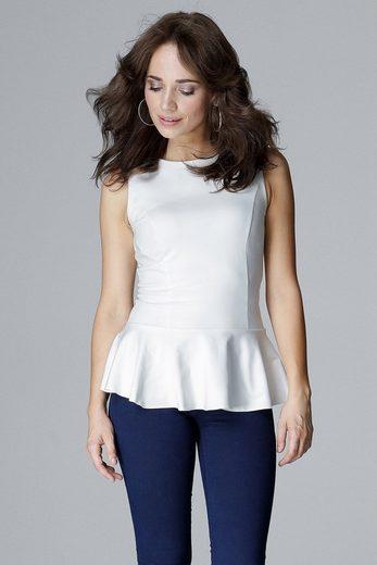 LENITIF Bluse mit elegantem Schößchen
