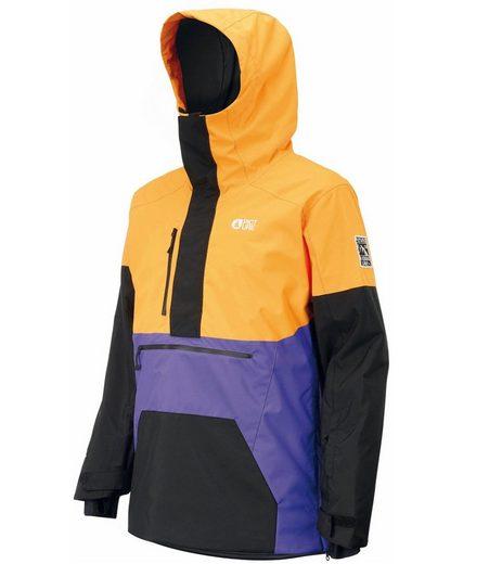Picture Skijacke »PICTURE Trifid Schlupf-Jacke praktische Herren Ski-Jacke mit Kapuze Hardshell-Jacke Orange/Schwarz/Lila«