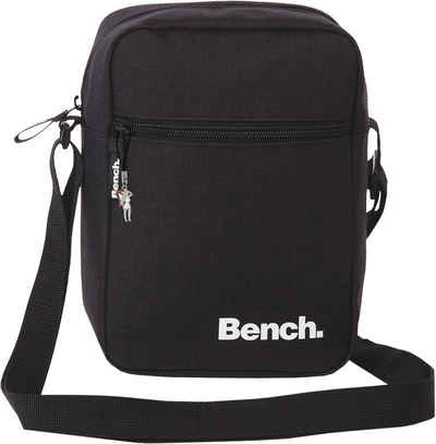 Bench. Schultertasche »OTI301X Bench stylische Cross Body Polyester« (Schultertasche), Damen, Jugend Schultertasche, Umhängetasche Polyester, schwarz ca. 17cm x ca. 23cm