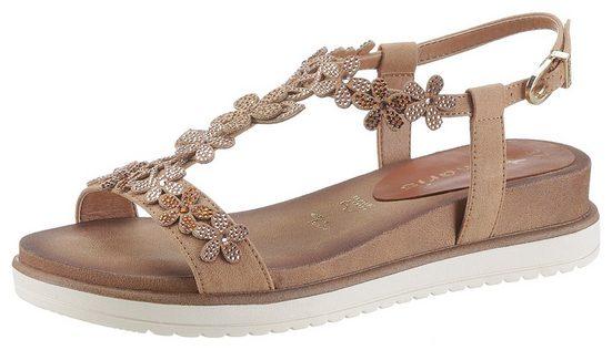 Tamaris »NOLLA« Sandale mit aufwendig verzierten Riemchen
