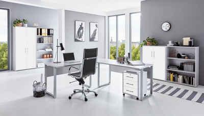 moebel-dich-auf Büromöbel-Set »OFFICE EDITION«, (Büromöbel abschließbar, Made in Germany, Set 1, mit Metallgriffen)