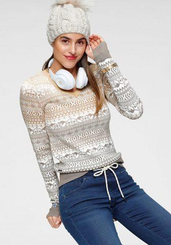 KangaROOS Raštuotas megztinis im Norweger-Muster...