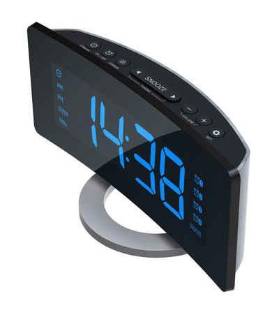 ROXX »2.0 Version CR 301« Audio-System (UKW Radio, Radiowecker mit XXL Display, 4 Weckzeiten)