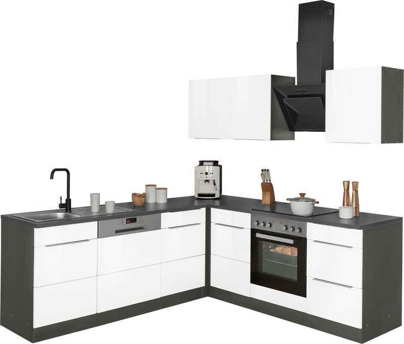 HELD MÖBEL Winkelküche »Brindisi«, ohne Geräte, Stellbreite 220/220 cm