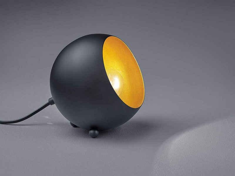 TRIO LED Tischleuchte, kleine Kugel Metall Tisch-Lampe für Wohnzimmer, Fensterbank, Schlafzimmer, Schreibtisch