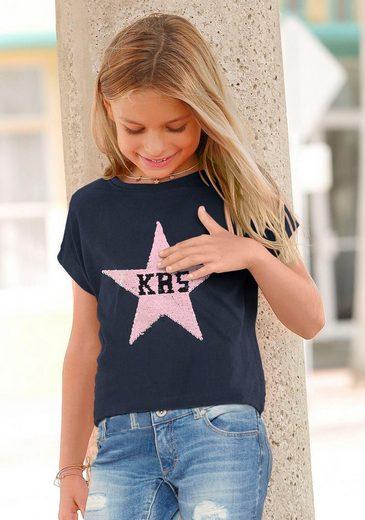 KangaROOS T-Shirt mit Wendepailletten Sternenapplikation