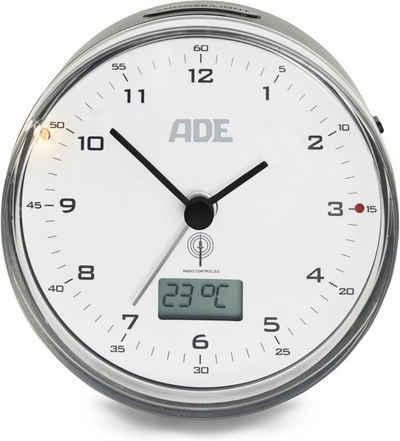 ADE Funkwecker »CK2022« Runder Funkwecker mit Temperaturanzeige
