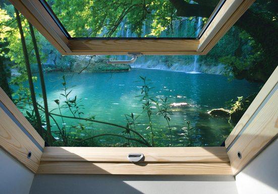 Consalnet Fototapete »Fensterblick See«, glatt, Meer