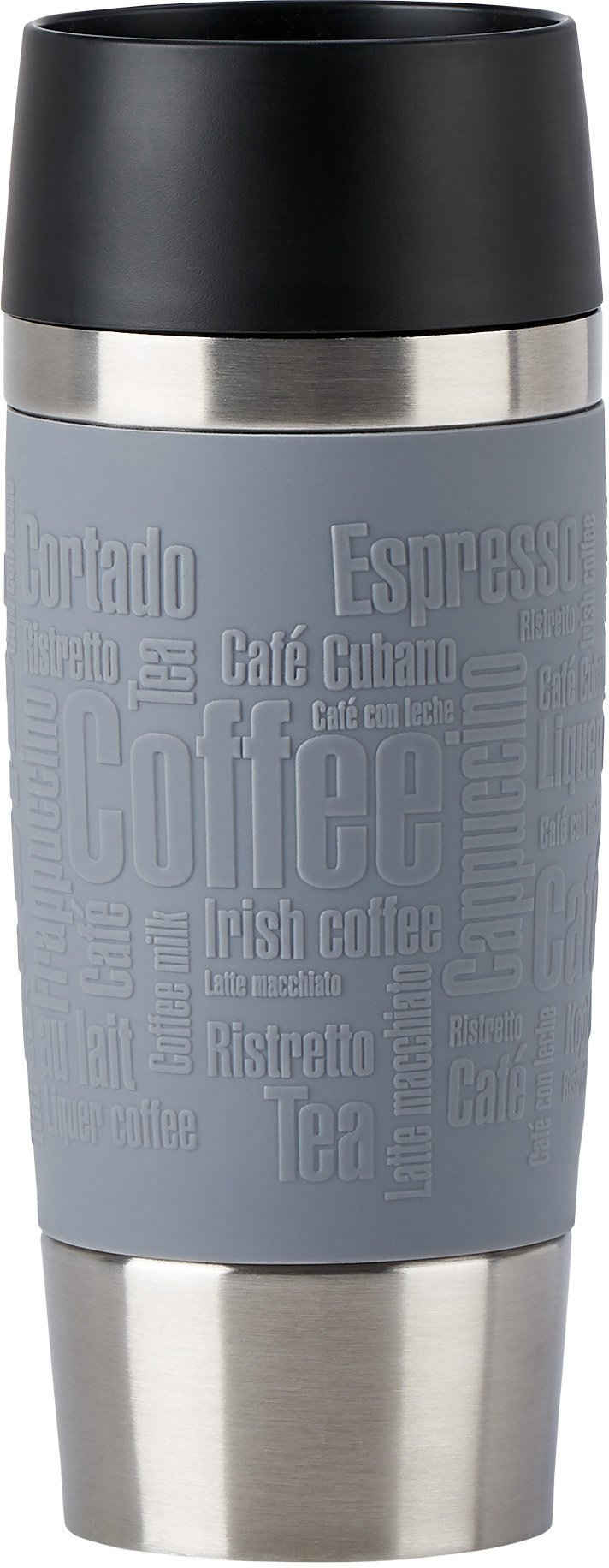 Emsa Thermobecher »Travel Mug«, Edelstahl, Silikon, Kunststoff, 100% dicht, 360 ml