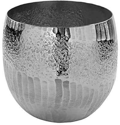 Fink Übertopf »MORENA, silberfarben« (1 Stück), dekorativer Blumentopf, handgefertigt, aus Metall, vernickelt, in verschiedenen Größen erhältlich, Wohnzimmer