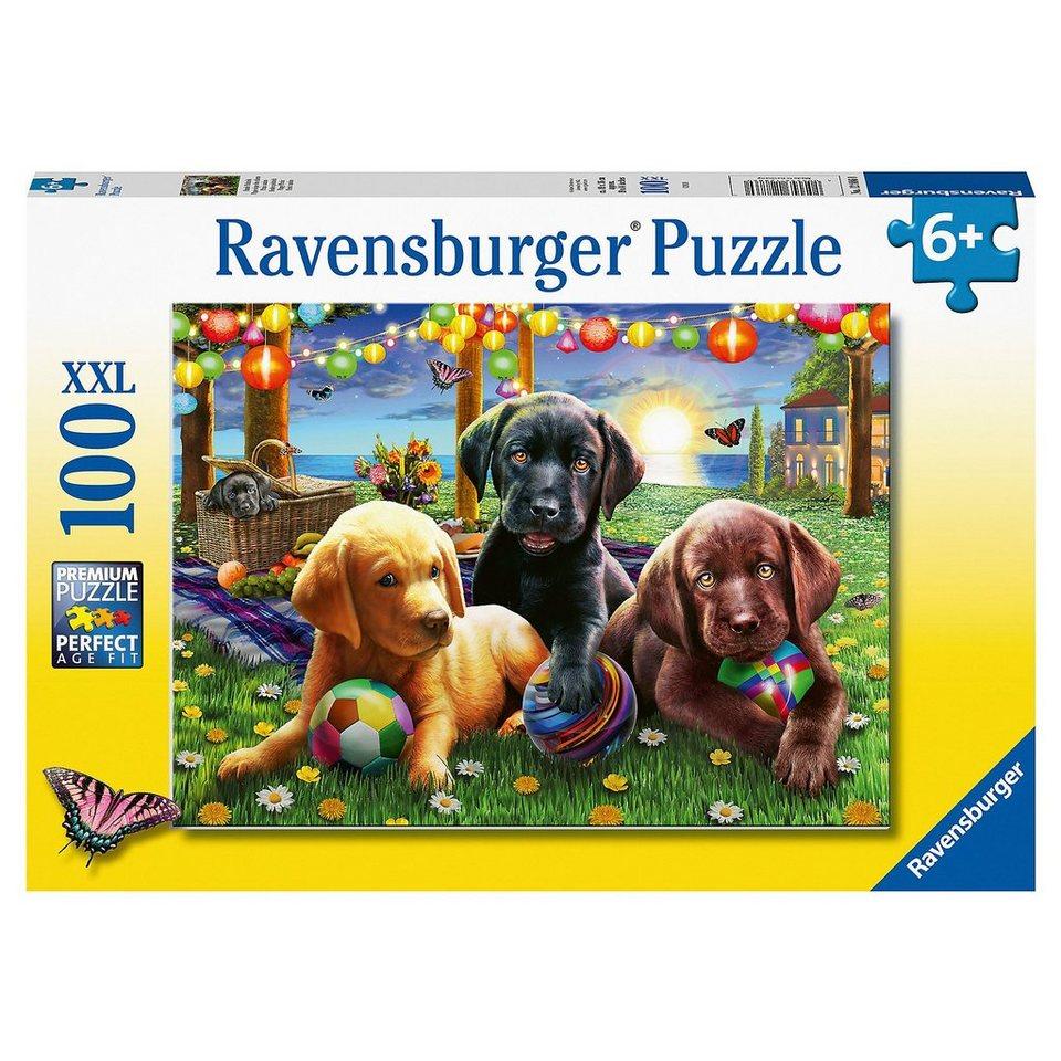 ravensburger xxlpuzzle hunde picknick 100 teile  otto