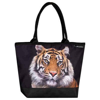 von Lilienfeld Shopper »VON LILIENFELD Handtasche Damen Motiv Tiger Raubkatze Shopper Maße cm L42 x H30 x T15 Strandtasche Henkeltasche Büro«