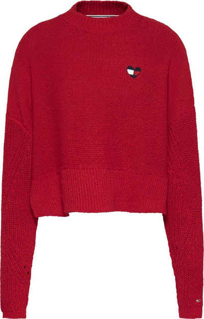 Tommy Jeans Rundhalspullover »TJW Homespun Heart Logo Sweater« mit Tommy Jeans Logo in Herzform & Flag