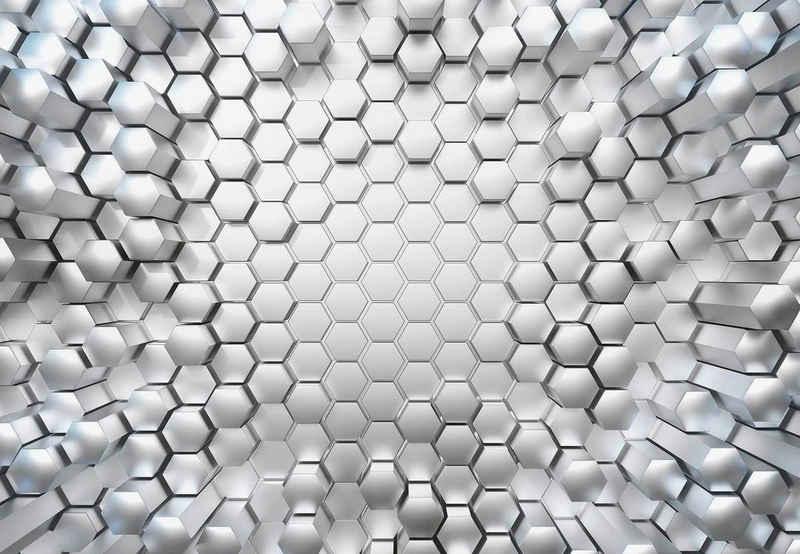 Komar Fototapete »Titanium«, glatt, bedruckt, 3D-Optik, Stadt, (Set), ausgezeichnet lichtbeständig