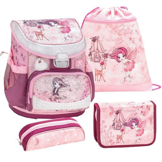 Belmil Schulranzen »Mini Fit«, Schultasche, für Mädchen, 4tlg, Kollektion 2021, Fee, für kleine Kinder