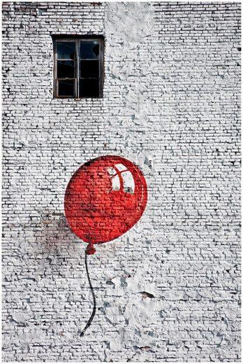 ART & PLEASURE Wanddekoration »Stone balloon«, aus Edelstahl