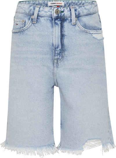 Tommy Jeans Shorts »HARPER DENIM BERMUDA SSPLBRD« mit Used-Effekten & ausgefranstem Saum