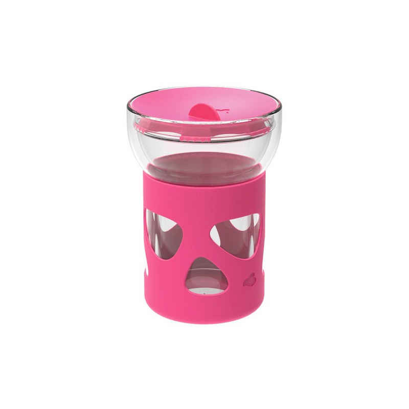 LEONARDO Vorratsglas »IN GIRO Cold To go 0,34l pink«, Glas, (1-tlg)
