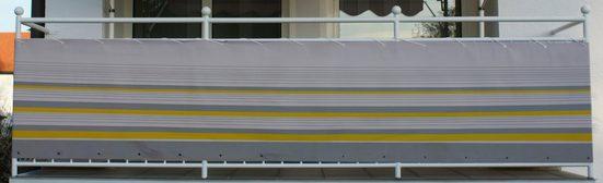 ANGERER FREIZEITMÖBEL Wind- und Sichtschutz »Nr. 600«, gelb/grau, Länge nach Wunschmaß, in 2 Höhen