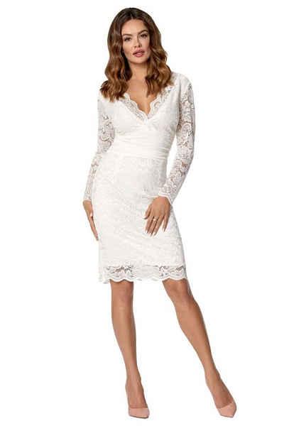 Kleid weiß spitze kurz