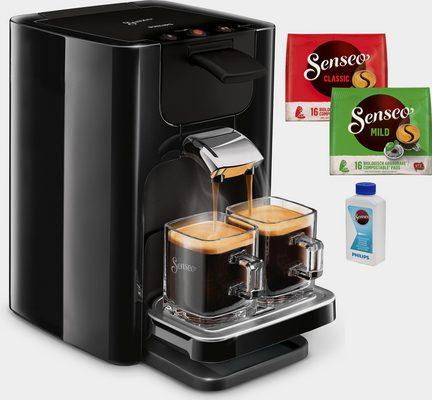 Kaffeepadmaschine SENSEO® Quadrante HD7865/60, inkl. Gratis-Zugaben im Wert von 14,- UVP