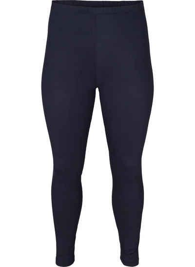 Zizzi Leggings Große Größen Damen Basic Einfarbige Viskose Leggings