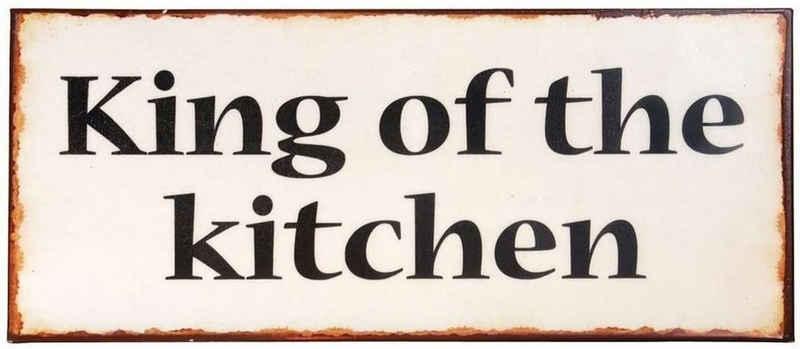 Ib Laursen Metallschild »Ib Laursen - Schild Blechschild Metallschild, King of the kitchen«