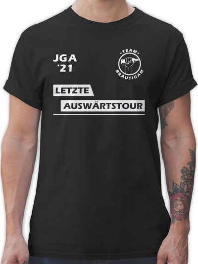 Shirtracer T-Shirt »JGA 2021 Letzte Auswärtstour Team Bräutigam - JGA Junggesellenabschied Männer - Herren Premium T-Shirt«