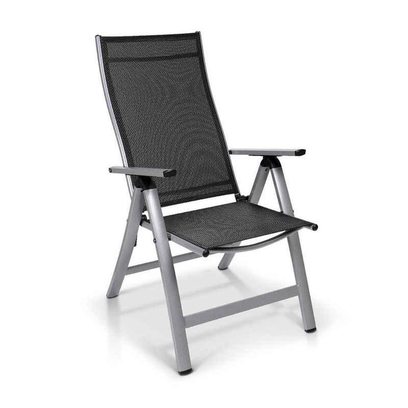 blumfeldt Gartenstuhl »blumfeldt London Gartenstuhl Textilene Aluminium 6-Positionen klappbar«