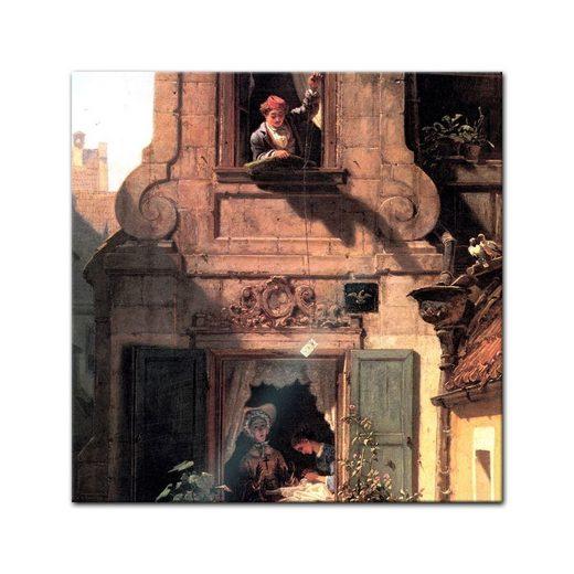 Bilderdepot24 Glasbild, Glasbild Carl Spitzweg - Alte Meister - Der abgefangene Liebesbrief