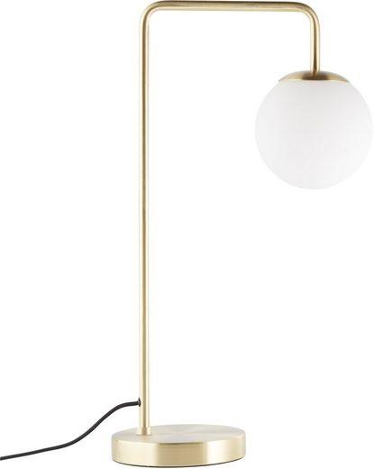 LeGer Home by Lena Gercke Tischleuchte »Joleen«, messing - farbene Tischlampe mit Kugeln aus Opalglas