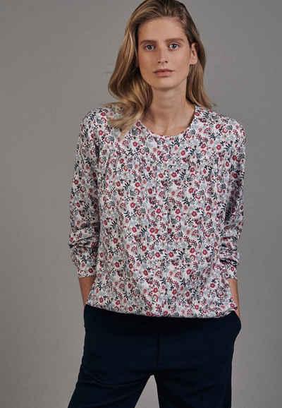 seidensticker Shirtbluse »Schwarze Rose« Langarm Rundhals Floral