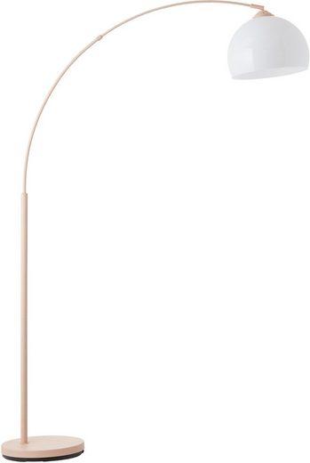 Lüttenhütt Bogenlampe »Klaas«, Stehleuchte rosa/weiß, E27, max. 40W, H: 166 cm